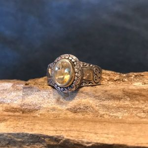 Sterling Silver Brighton Ring With Citrine